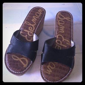 Sam Edelman Cork Wedge Sandals, 9M